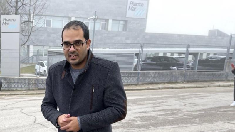 El periodista palestino Muath Hamed. — Cedida