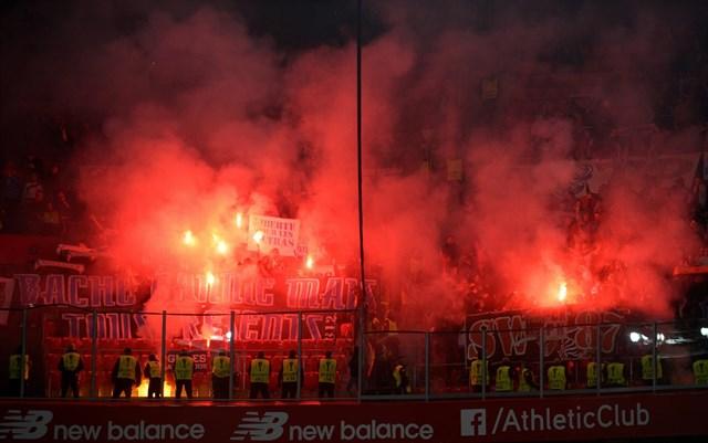 La UEFA expedientará al Marsella por la agresión de sus ultras a los vigilantes de San Mamés