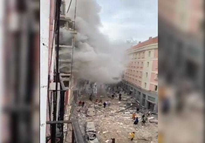 Almenys dos morts en l'explosió que ha destruït un edifici al centre de Madrid