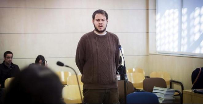 Pablo Hasél, en la Audiencia Nacional.