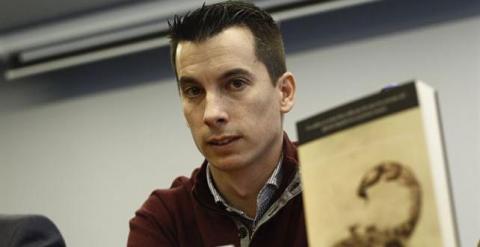Luis Gonzalo Segura, teniente del ejército en huelga de hambre.EUROPA PRESS