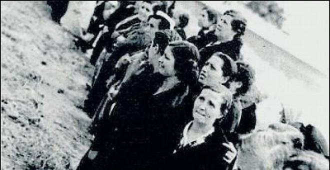Presas republicanas en la cárcel madrileña de Ventas.M. Á. M.