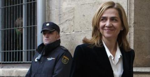 La infanta Cristina, en los juzgados de Palma.REUTERS