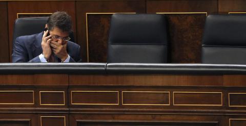 El ministro de Justicia, Rafael Catalá, en su escaño del Congreso de los Diputados EFE