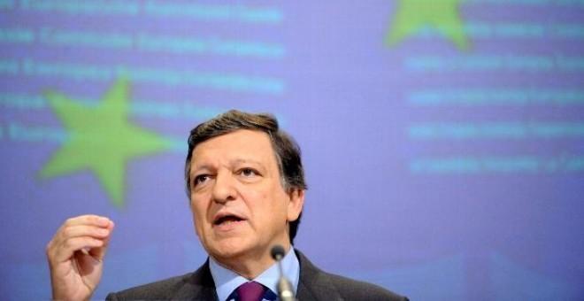 El presidente de la Comisión Europea, el portugués Jose Manuel Durao Barroso, durante una rueda de prensa en Bruselas, Bélgica.