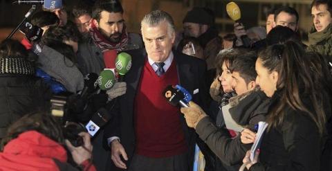 Luis Bárcenas, a su salida de Soto del Real. EFE