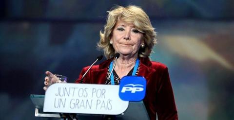 Esperanza Aguirre hoy durante la Convención Nacional del PP.  EUROPAPRESS