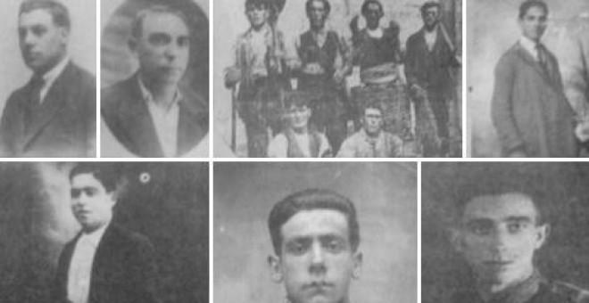 Imágenes de algunas de las 7.000 personas que fueron represaliadas.- ARMH VALLADOLID