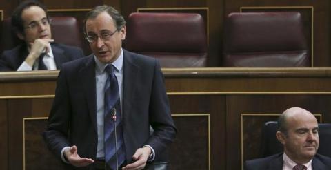 El ministro de Sanidad, Servicios Sociales e Igualdad, Alfonso Alonso, en el Congreso. EFE