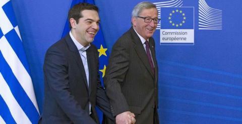 Juncker y Tsipras en una foto de archivo. REUTERS