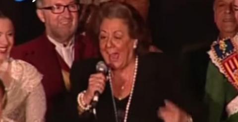 Rita Barberá en acción.
