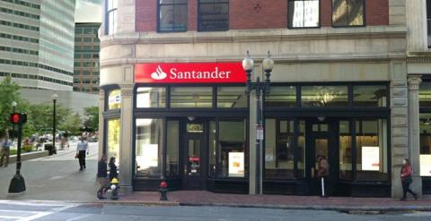 Oficina bancaria de Santander Bank en Boston.