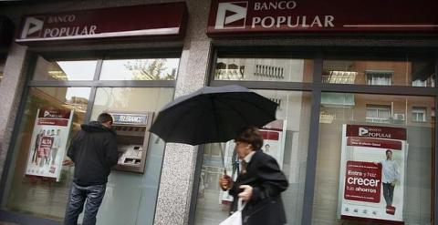 Una oficina del Banco Popular en Madrid. REUTERS