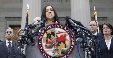 La fiscal estatal por Baltimore, Marilyn Mosby. - REUTERS