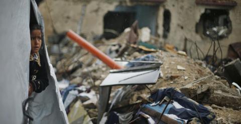 La Franja de Gaza aún sufre las consecuencias de los bombardeos israelíes. - REUTERS