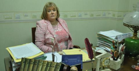 La jueza Servini, en el despacho en el que nos recibe para la entrevista.