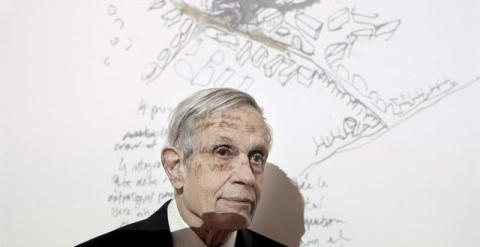 A file picture dated 25 February 2008 of Nobel Laureate, US mathematician John Nash during the press conference held in Madrid, Spain. According to reports from 24 May 2015, John Nash and his wife died on 23 May 2015 in a car accident in New Jersey, USA.
