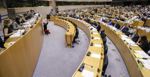 Imagen de la votación de este jueves en el Parlamento Europeo. MRR.