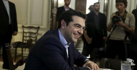Alexis Tsipras durante una reunión con el ministro iraní de Exteriores la semana pasada. REUTERS