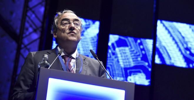 El presidente de la patronal, Juan Rosell, durante su intervención en la Asamblea General de la CEOE,.- EFE/Fernando Villar