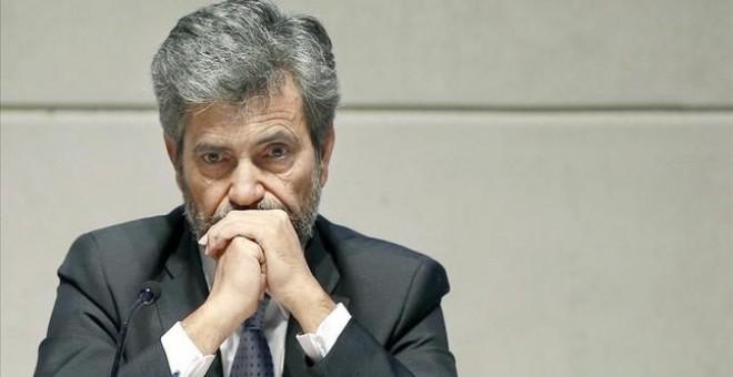 El presidente del CGPJ y del Tribunal Supremo, Carlos Lesmes. EFE