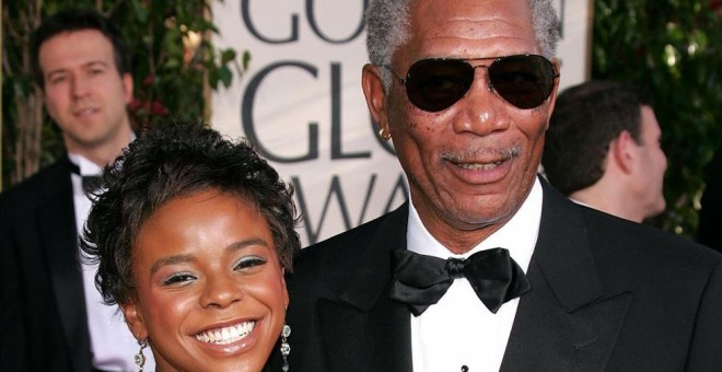 Morgan Freeman y su nieta.- EUROPA PRESS