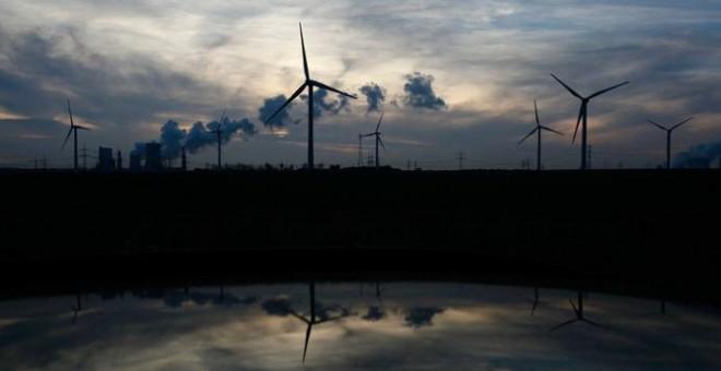 Un parque eólico en Alemania. REUTERS