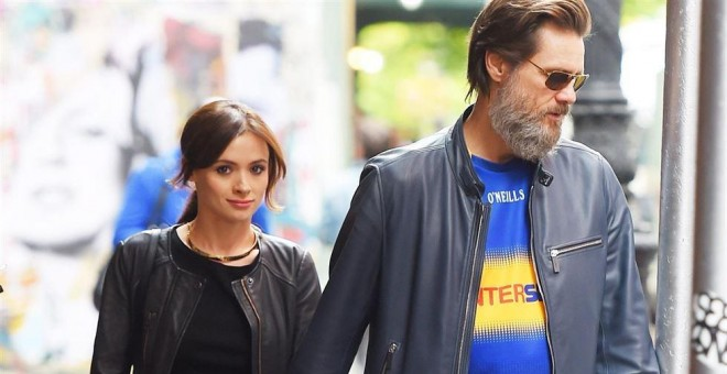 Cathriona White y Jim Carrey./ Cordon Press