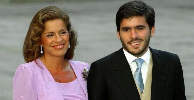 José María Aznar Botella, hijo del expresidente, junto a su madre, Ana Botella, exalcadesa de Madrid