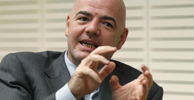 Gianni Infantino, secretario general de la UEFA. /REUTERS