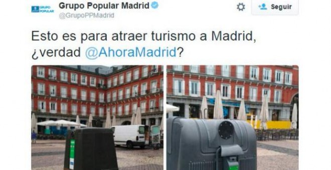 Captura del tuit del PP de Madrid.-