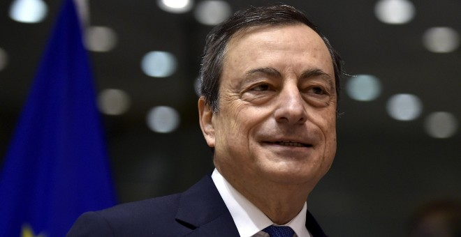 El presidente del Banco Central Europeo, Mario Draghi, en Bruselas. / ERIC VIDAL (REUTERS)