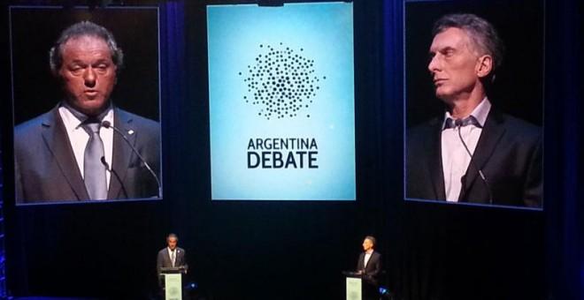 Imagen del debate entre los candidatos./ A. D.