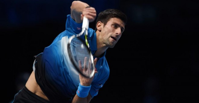 Djokovic, durante el partido. Reuters / Tony O'Brien