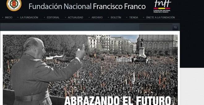 Imagen de la web de la Fundación Francisco Franco.