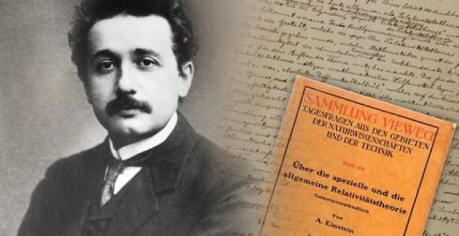 En noviembre de 1915, Albert Einstein (1879-1955) dio a conocer su teoría de la relatividad general, resultado de años de intenso trabajo. / American Institute of Physics.