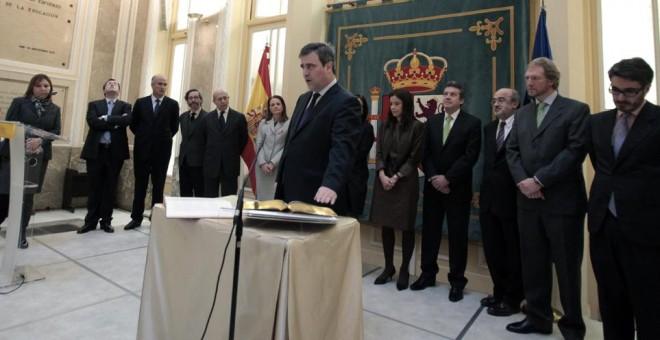 Miguel Cardenal al jurar su cargo como presidente del Consejo Superior de Deportes en 2012. /CSD