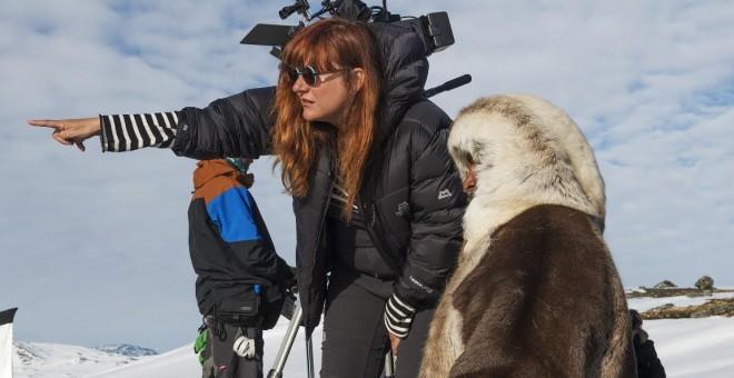 Isabel Coixet durante el rodaje.