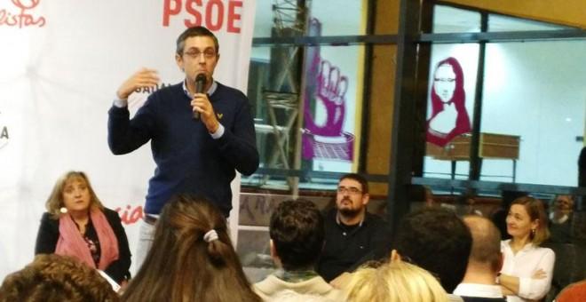 Eduardo Madina, durantes su intervención en el acto electoral de Marchamalo, en la provincia de Guadalajara. / J.C.E.