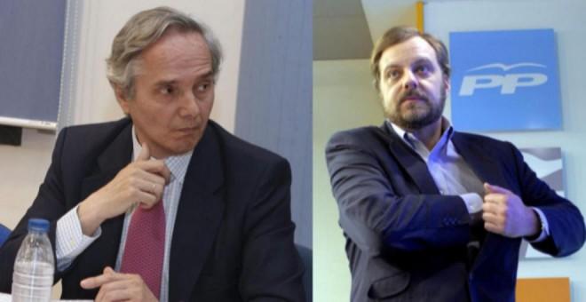 Pedro Gómez de la Serna, diputado por Segovia del PP y Gustavo de Arístegui, exembajador de España en la India
