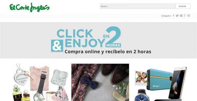 afd817f0964 Nuevo servicio de compra on-line de El Corte Inglés con entrega en sólo dos