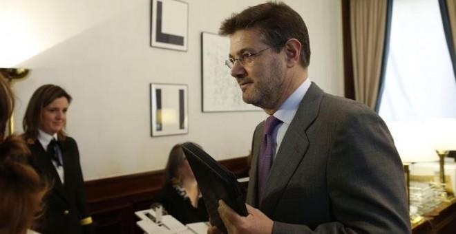 El ministro de Justicia, Rafael Catalá, formaliza su acta de diputado hoy en el Congreso. EFE/Ángel Díaz