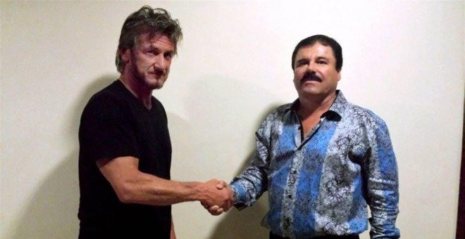 'El Chapo' Guzmán y el actor Sean Penn. EUROPA PRESS
