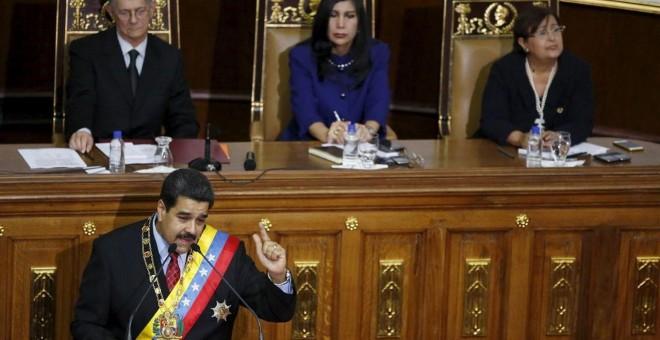 Nicolás Maduro, durante su discurso./ EP