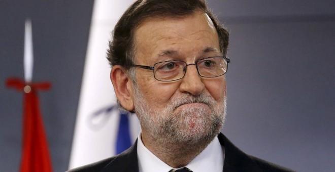 Rajoy, durante su comparecencia. REUTERS/Juan Medina