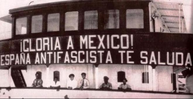 Uno de los buques que trasladó a los exiliados republicanos a México / Asociación para la recuperación de la Memoria Histórica