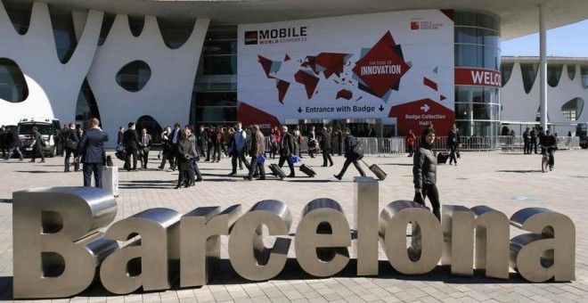 Exterior del Mobile World Congress en Barcelona. EFE