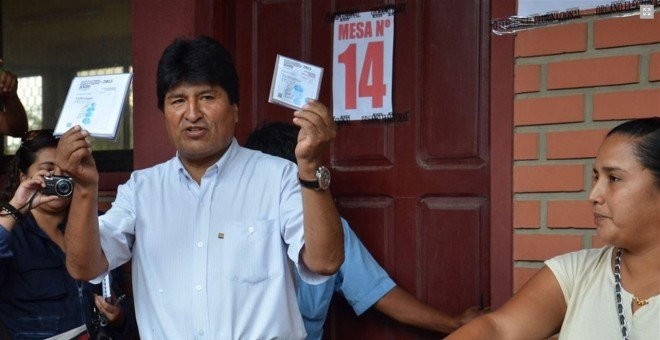 Evo Morales, votando en el referéndum./ EP