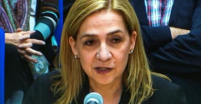 Infanta Cristina comienza a declarar en el juicio de Noos.