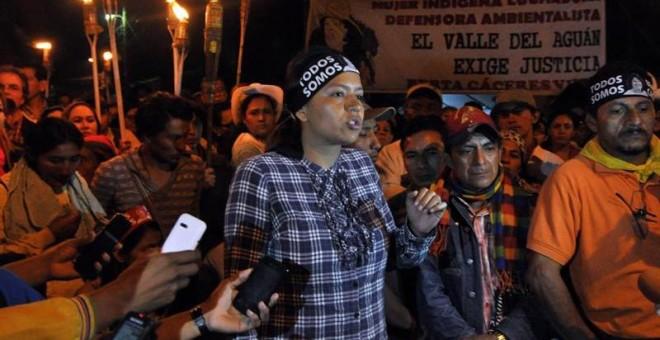 Olivia Zuliga, hija mayor de la líder indígena asesinada Berta Cáceres,